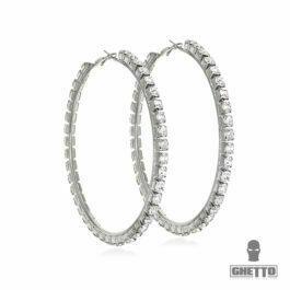 Ghetto Big Hoop Stainless Steel Earrings Diamond