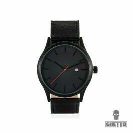Ghetto Wrist Analog Quartz watch No-Name minimalist Black
