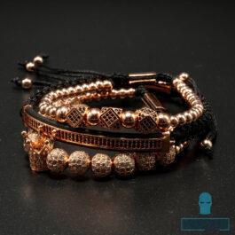 Ghetto Bracelet Set / 4Pcs Stainless Steel
