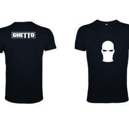 Ghetto White Mask Black T-SHIRT for Women's