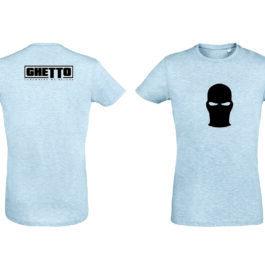 Ghetto Black Mask Gray T-SHIRT for Women's