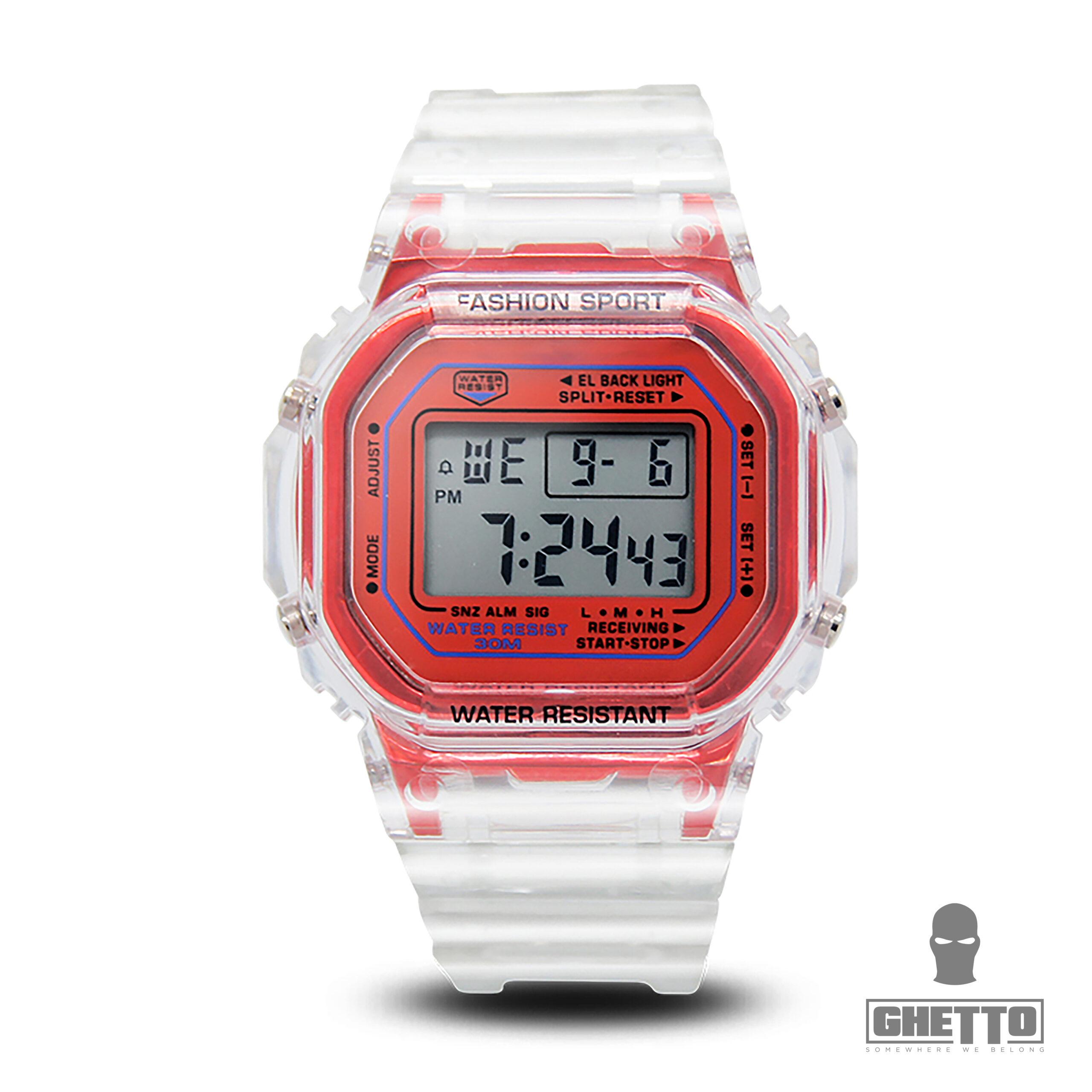 Ghetto Clear Silicon Digital Watch Band Fancy Elegant