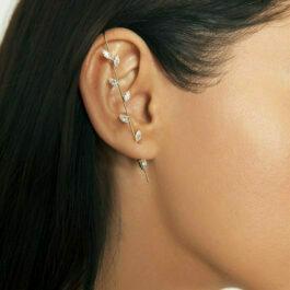 Ghetto Hook Stud Earrings Crystal Wrap 1pcs
