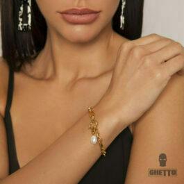 Ghetto Chain Bracelet Pearl Vintage for Women