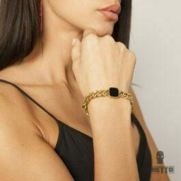 Ghetto Square Chain Bracelet for Women